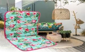 Свежарска Възглавница за Стол с Гръб Фламинго