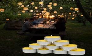 Комплект 10 Броя Чаени Свещички Цитронела