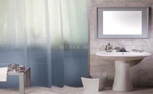 3D Гофрирана Прозрачна Завеса за Баня