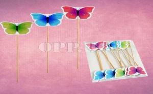 Дървена Клечка Пеперуда за Декорация