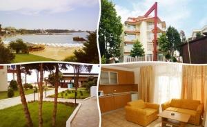На Първа Линия в Хотел Крим Панорама, Между Равда и Несебър! Нощувка на човек със Закуска, Обяд и Вечеря на Супер Цена!
