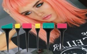 Комплект 6 Броя Силиконови Четки за Боядисване на Коса