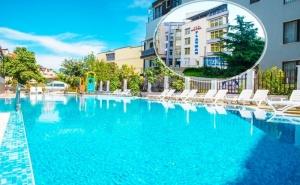 Нощувка на човек на База Аll Inclusive + Басейн в Хотел Флагман***, на 70М. от Плаж Хармани, <em>Созопол</em>