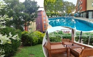 Нощувка на човек със закуска и вечеря* + басейн в реновираният хотел Сънрайз, Приморско