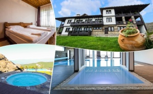 2+ нощувки на човек със закуски и вечери + външен панорамен басейн и релакс център в хотел Лещен, с. Лещен