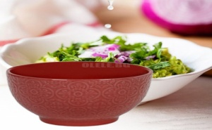 Керамична купа за супа релефна
