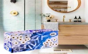 Хартиени кърпи в кутия 200 броя Silk