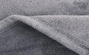 Сиво Плюшено Одеяло