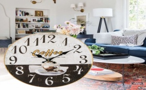 Декоративен Стенен Часовник Coffee