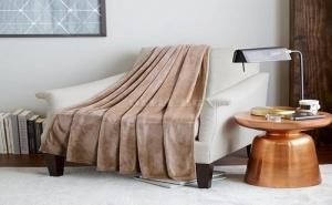Светло Кафяво Плюшено Одеяло