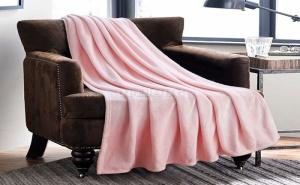 Плюшено Розово Одеяло