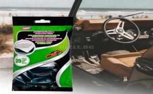 Мокри Кърпички за Почистване на Авто Тапицерии