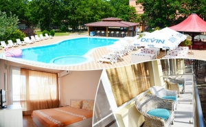 Нощувка на човек на База All Inclusive + Басейн в Хотел Нева Бийч, <em>Китен</em>, на 100М. от Плаж Атлиман