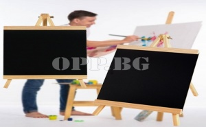 Дървен Статив с Черна Дъска за Писане или Рисуване