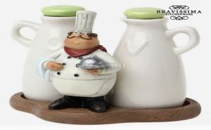 Комплект за Олио и Оцет Vinegar Server Bravissima Kitchen 8885 (2 Pcs)
