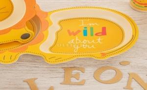 Детски Комплект за Хранене Бамбук Quid Лъвче