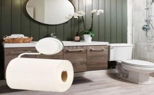 Поставка за тоалетна хартия с вендуза