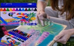 24 Броя Пастели за Рисуване Екстра Качество
