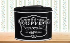 Винтидж Метална Кутия за Кафе