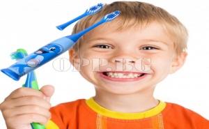 Детска Електрическа Четка за Зъби с Две Глави