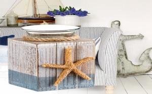 Дървена Поставка за Чаена Свещ Морска Звезда