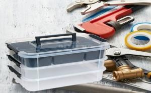 Кутия за Инструменти с Дръжки на 3 Нива