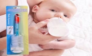 2 в 1 Четка за Бебешки Бутилки и Биберони
