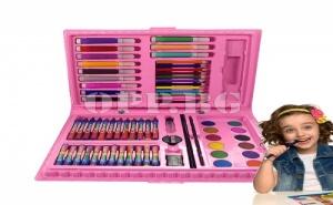 Комплект за Оцветяване и Рисуване от 68 Части за Момиче