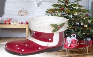 Декоративно Порцеланово Коледно Ботушче