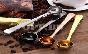 Лъжица за Кафе с Вградена Щипка 2 в 1