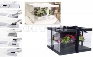Уникална Кутия - Опаковка за Цветя