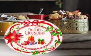 Десертна Коледна Чинийка Merry Christmas