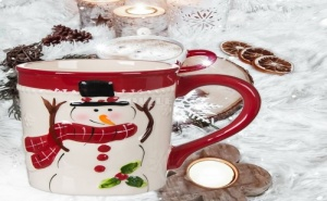 Коледна Керамична Чаша Снежен Човек
