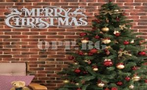 Декоративен 3D стикер Merry Christmas