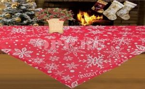 Декоративна Покривка с Коледни Снежинки