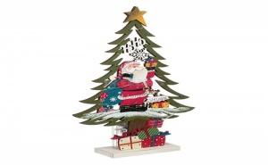 Декоративна Led Коледна Елха с Дядо Коледа