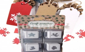 4 броя Коледни перфоратири Craft punches