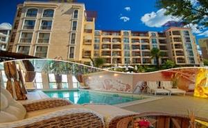 Нощувка на човек + басейн и релакс зона в хотел Хармони Суитс 2, 3, Джънгъл, Слънчев бряг