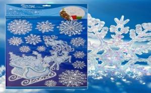 Декоративни 3D Стикери Дядо Коледа