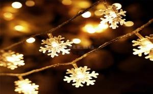 Коледни Led Лампички Снежинки