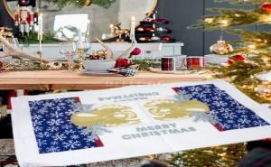 Кoледна Кухненска Кърпа с Ангел Merry Christmas