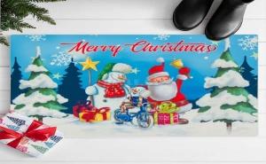 Весела Празнична Изтривалка за Врата Merry Christmas