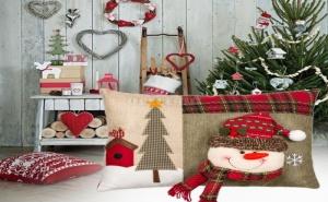 Красива Коледна Възглавница Снежен Човек