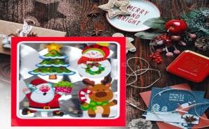 Комплект 4 Броя Сладурски Коледни Магнитчета