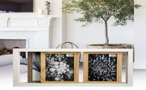 Дървена Рамка за 3 Снимки Тип Релса