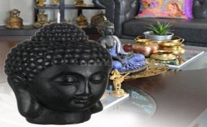 Уникална Декоративна 3D Свещ Буда