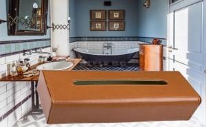 Луксозна Кутия за Салфетки от Кожа