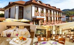 Нощувка на човек със закуска, обяд* и вечеря + сауна в хотел Тетевен