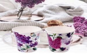 Комплект 2 Броя Красиви Люлякови Чаши