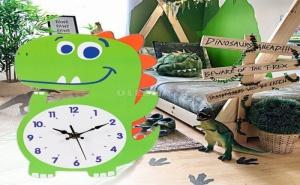 Детски Стенен Часовник Динозавър
